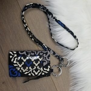 Vera Bradley lanyard and ID holder/wallet